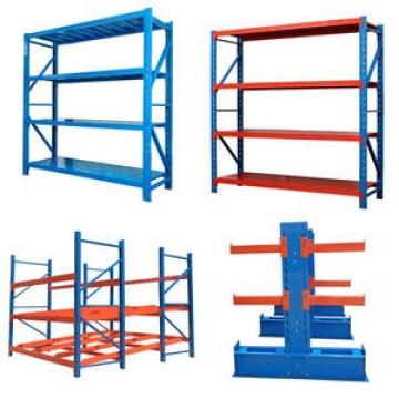 Slotted perforated metal shelving used storage racks