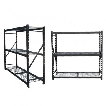 Workstation industrial metal shelving heavy duty welded storage rack with coated-wire decking